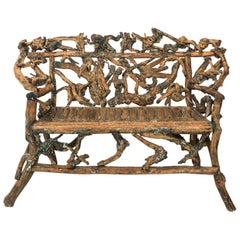 Twig Driftwood Bench