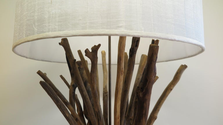 Thai Twig Driftwood Floor Lamp For Sale