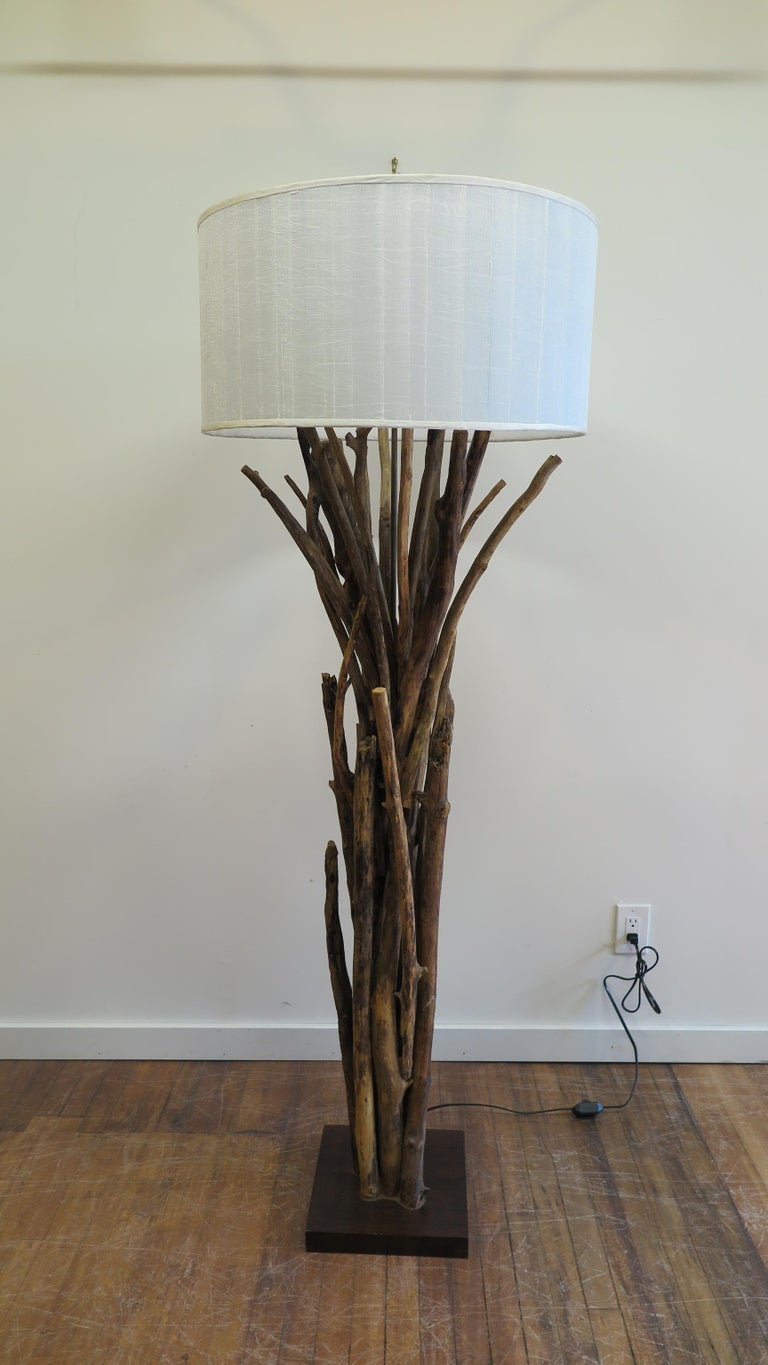 Wood Twig Driftwood Floor Lamp For Sale