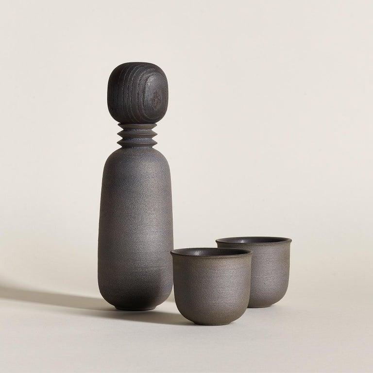 American Twilight, Carafe Teacup Set, Slip Cast Ceramic, N/O Service Collection For Sale