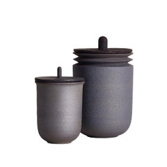Twilight, Jars, Set of 2, Slip Cast Ceramic, N/O Service Collection