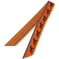 Twilly  Womens  scarf  orange Leather