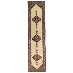 Twin 1920s Antique Persian Rug Malayer Design with Grand Tribal and Floral Deta