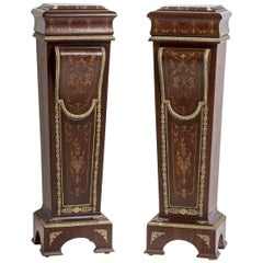 Twin Boulle Pedestals, 20th Century