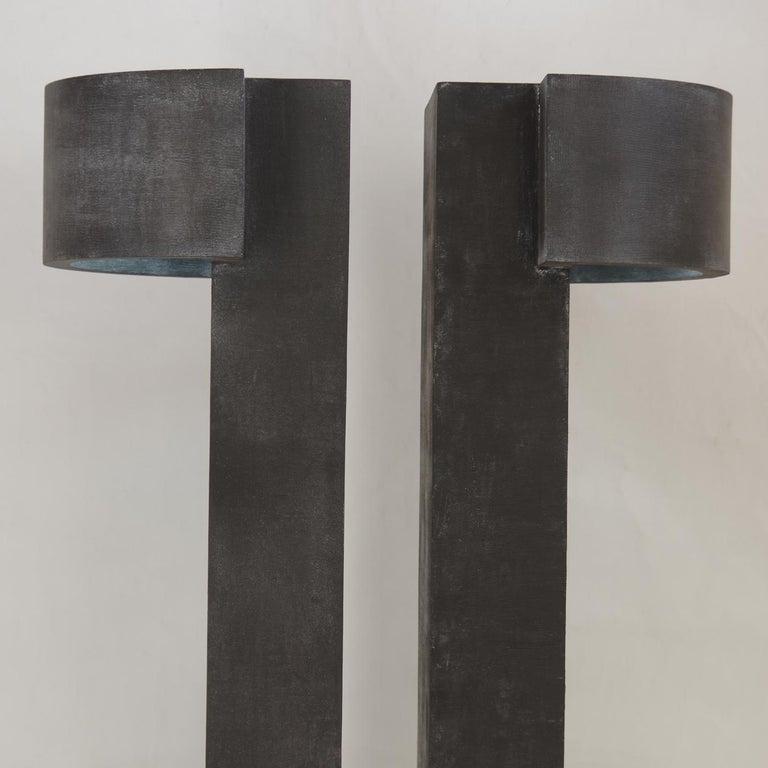 Contemporary Twin Monolith Light-Sculpture by Giorgio Cubeddu For Sale