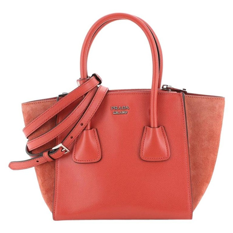 Twin Pocket Tote City Calfskin Mini For Sale