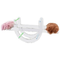 Twin Pops Seesaw with Tibetan Lamb Cushions