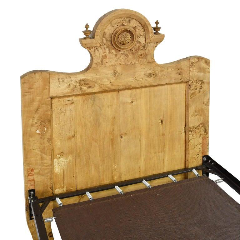 Mid-19th Century Twin-Size Austrian Biedermeier Bed in Birch, circa 1830 For Sale