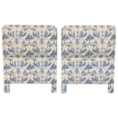 Twin Size Chinoiserie Style Upholstered Headboards