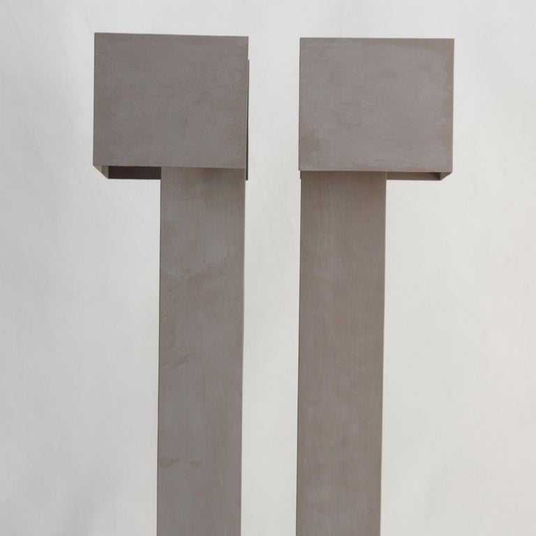 Italian Twin Towers Light-Sculpture by Giorgio Cubeddu For Sale