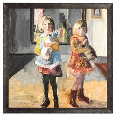 """""""Twins"""" Painting Oil on Board by Timothy Behrends"""