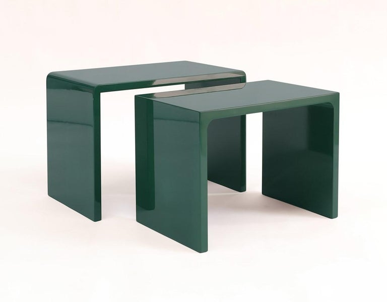 Twins Polished Side Table contemporary design by Giordano Viganò In Excellent Condition For Sale In Novedrate, IT