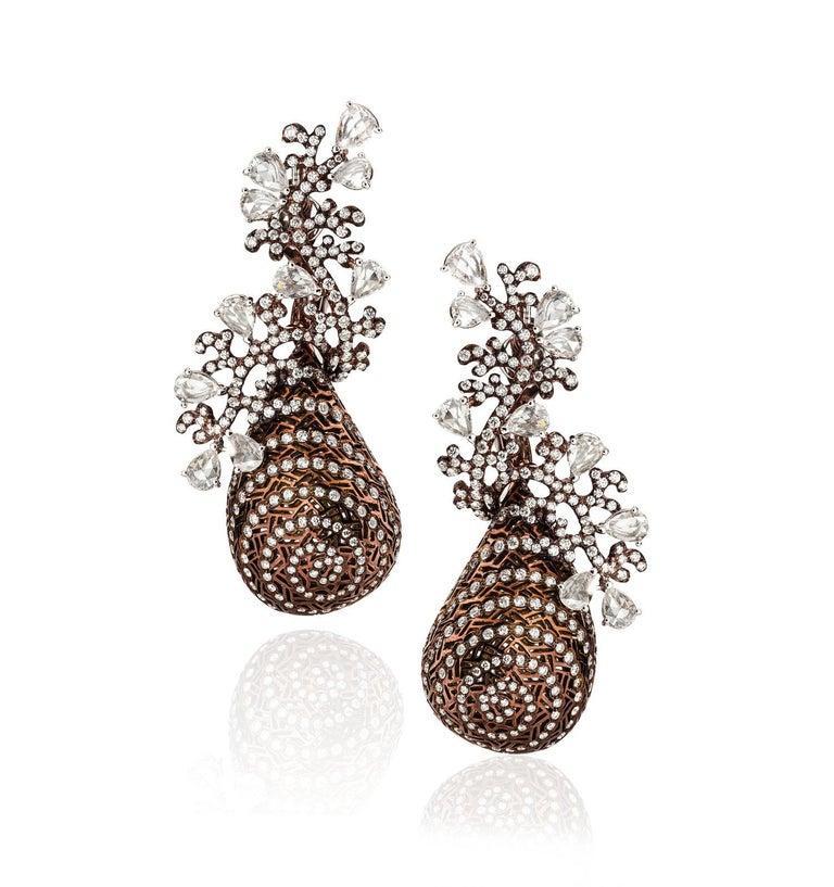 Women's Twirling Shimmer Earrings by Neha Dani For Sale