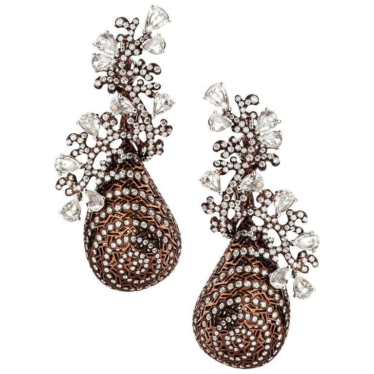 Twirling Shimmer Earrings by Neha Dani For Sale
