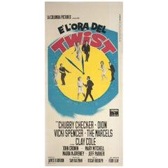 Twist Around the Clock 1961 Italian Locandina Film Poster