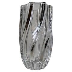 Twisted Art Glass Vase by Anna Ehrner for Kosta Boda, 1980s