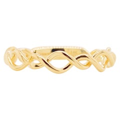 Twisted Metal Ring, 14K Yellow Gold Twisted Stackable Band, Gabriel LR51691Y4JJJ