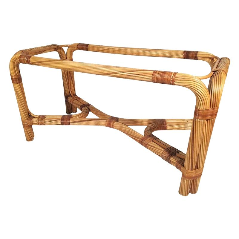 Twisted Rattan Dining Table Base