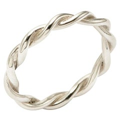 Twists, Twisted Band in 18 Karat White Gold