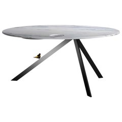 Twitty Round White Dining Table