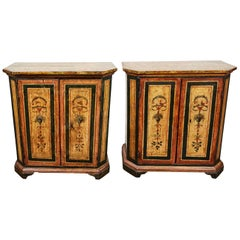 Two, 18th Century, Italian, Hand Painted Cabinets