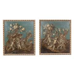 Two, 18th Century Overdoor Paintings