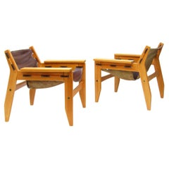 """Two 1970s """"Kilin"""" Lounge Chairs by Sergio Rodrigues for OCA"""