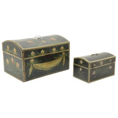 Two 19th Century French Painted Wedding Boxes