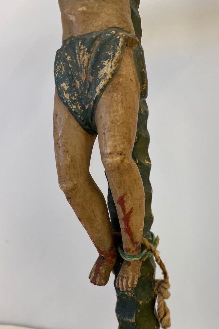 Mexican Two 19th Century, Carved and Painted Religious Figures,