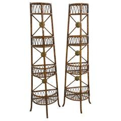 Two  Bamboo Shelves circa 1950