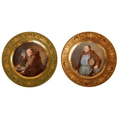 Two 19th Century Vienna Porcelain Cabinet Plates