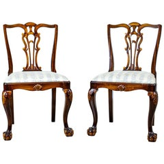 Two 20th Century Chairs in the Chippendale Type