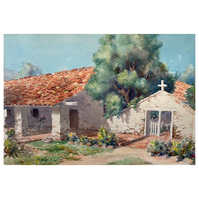 Two 20th Century Watercolor Paintings by American Artist, Willet Sudds Foster For Sale