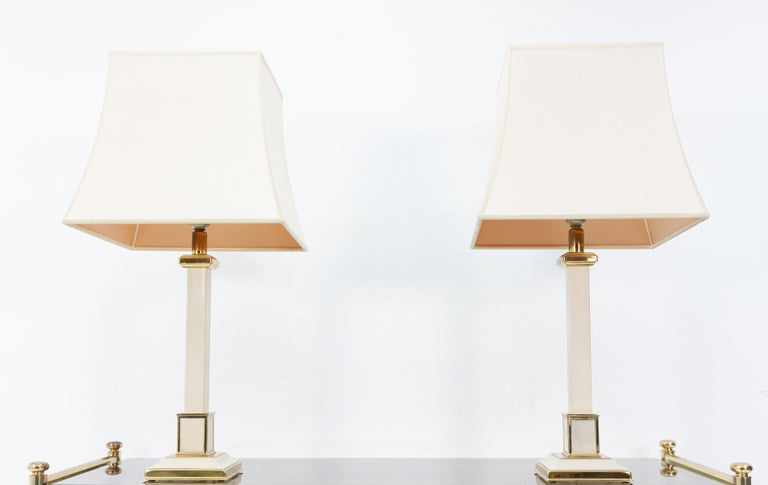Dutch Two 1970s Table Lamps Hollywood Regency For Sale