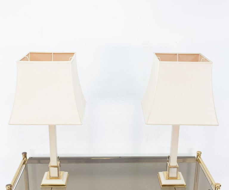 Late 20th Century Two 1970s Table Lamps Hollywood Regency For Sale