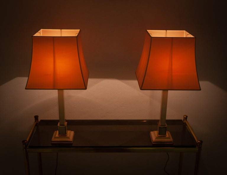 Two 1970s Table Lamps Hollywood Regency For Sale 1