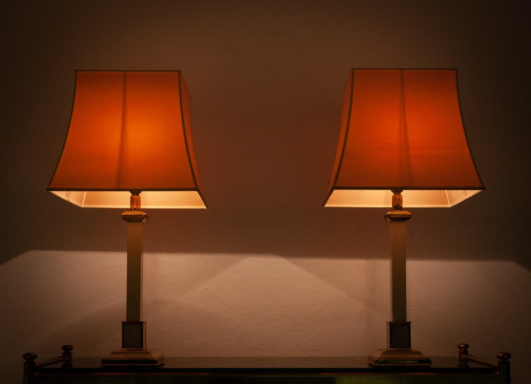 Two 1970s Table Lamps Hollywood Regency For Sale 2