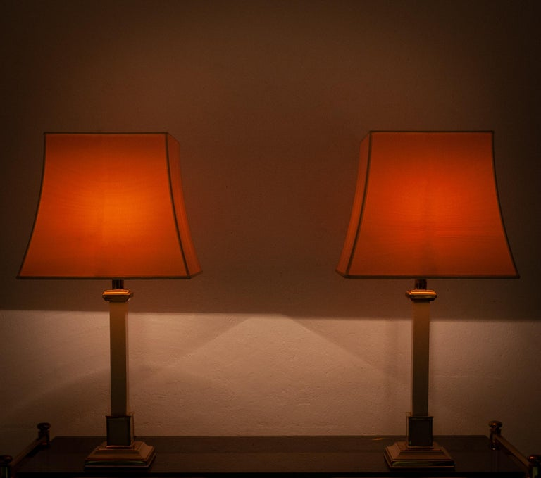 Two 1970s Table Lamps Hollywood Regency For Sale 3