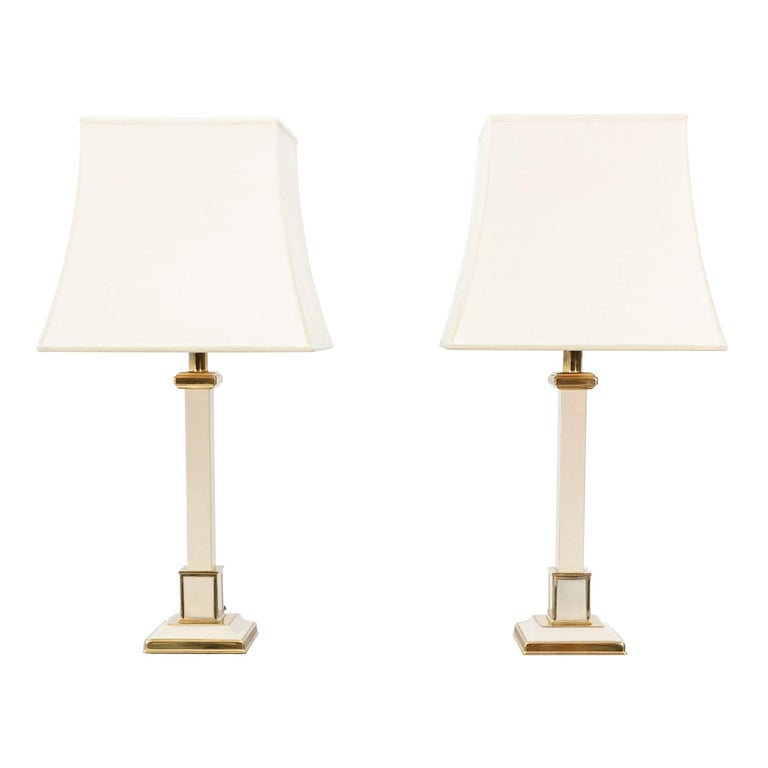 Two 1970s Table Lamps Hollywood Regency For Sale
