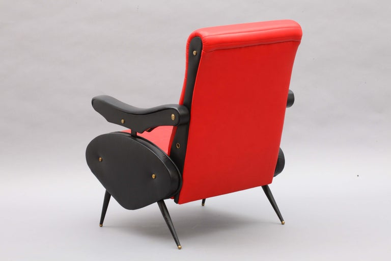 Two Adjustable Armchairs in the Style of Marco Zanuso, Italy, 1958 For Sale 1