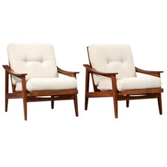 Two Adjustable Lounge Chairs '660' in Teak by Cassina, Italy, 1960