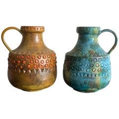 Two Alvino Bagni Raymor Large Jug Vases