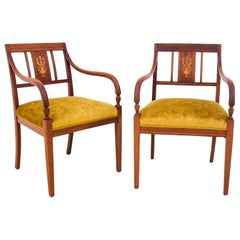 Two Antique Empire Armchairs, Sweden, 1860