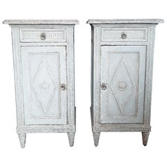 Two Antique French Directoir Cabinets or Nightstands, 19th Century