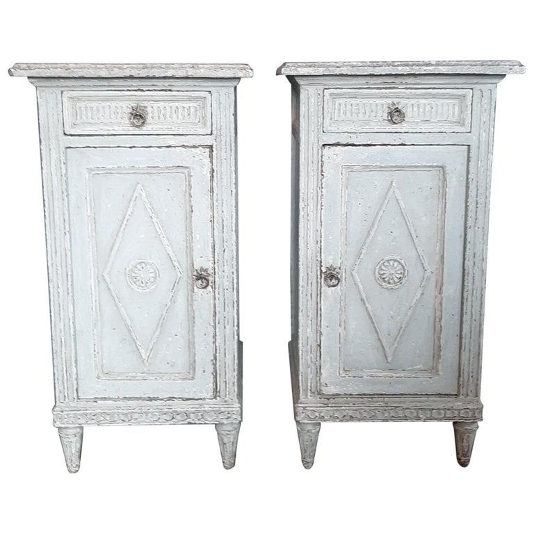 Two Antique French Directoir Cabinets or Nightstands, 19th Century For Sale