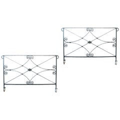 Two Antique Wrought Iron Railings
