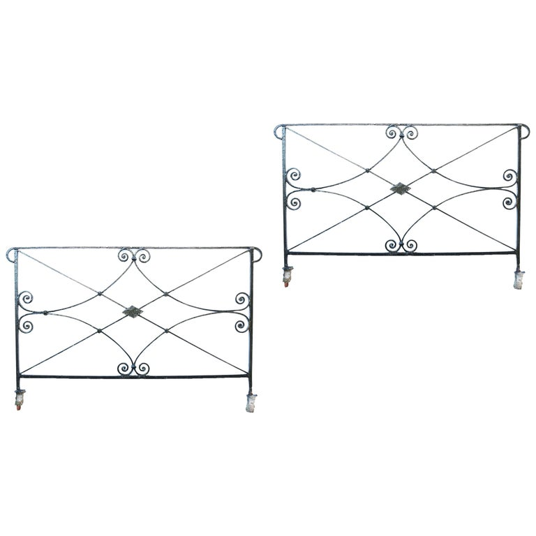 Two Antique Wrought Iron Railings For Sale