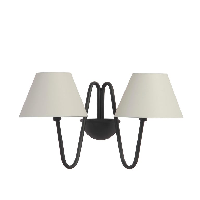 Modern Two-Arm 'Bouquet' Red Wall Lamp in the Style of Jean Royère