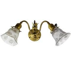 Two-Arm Victorian Sconce with Shades