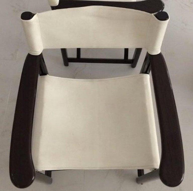 Minimalist Two Armani Casa Director's Chair Dustin Wood Version For Sale